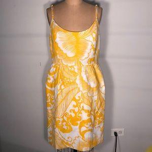 Milly Floral Slip Lined Shoulder Strap Dress 8